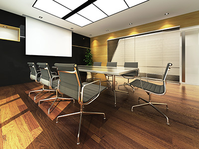 conference room wood floors